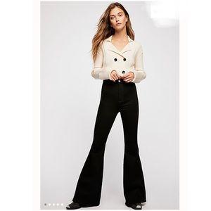 NWT Free People Brooke Flare Jeans black size 25